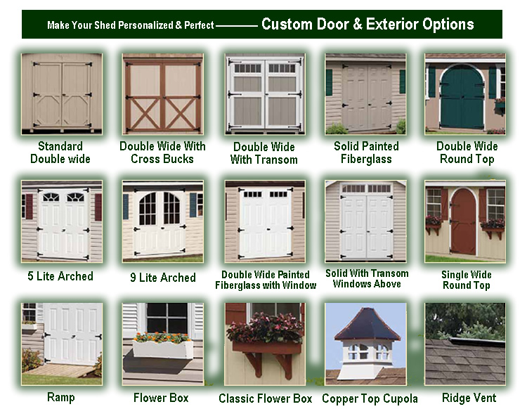 Shed Door Options Backyard Structures